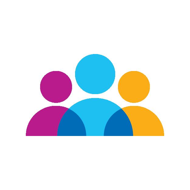 Icon of three people