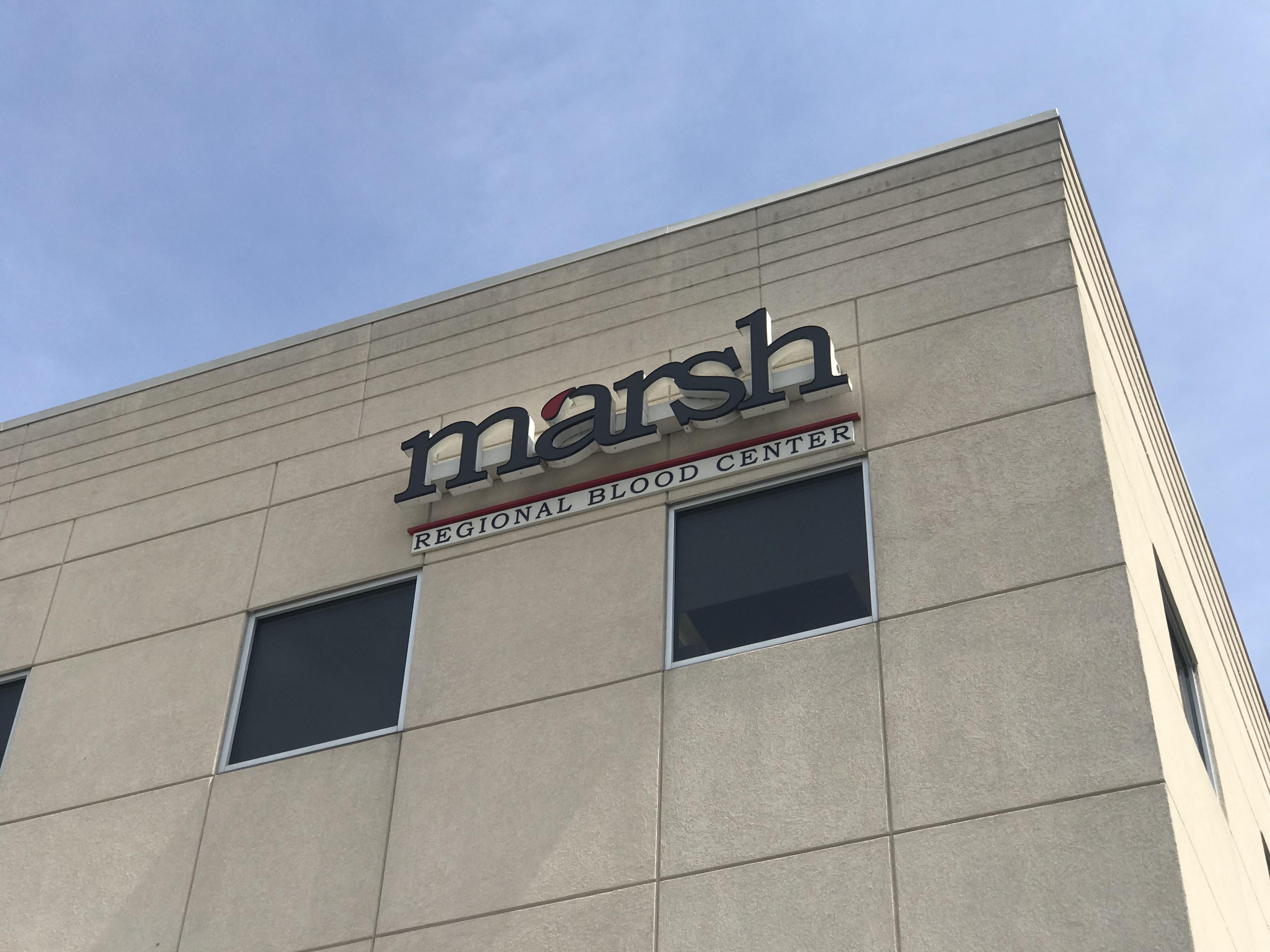 Marsh Regional Blood Center building in Kingsport
